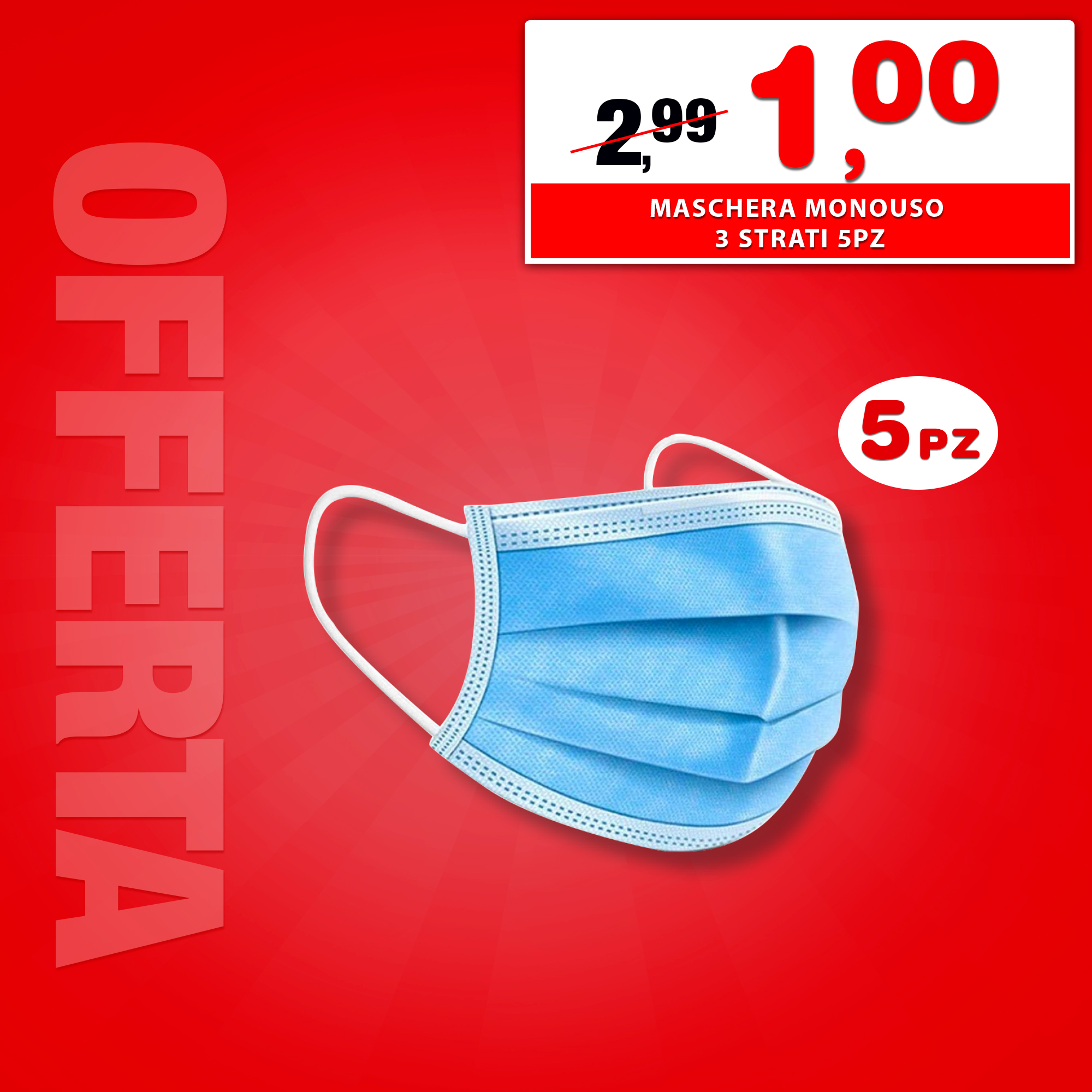 Offerta mascherina bricoworld